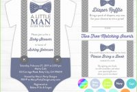 Inspirational Printable Onesie Baby Shower Invitations Admirable Boy Baby Shower throughout Little Man Baby Shower Free Printables