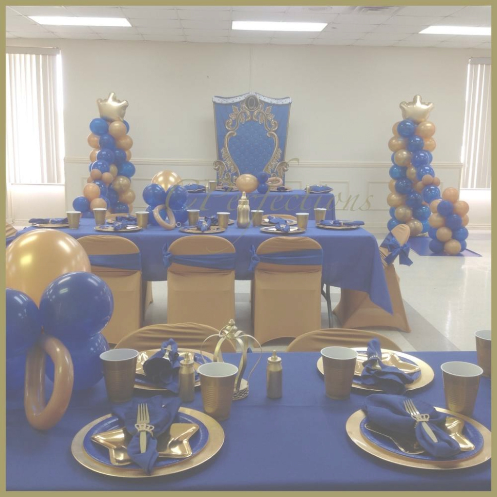 Inspirational Remarkable Ideas Royal Blue Baby Shower Decorations Blue Gold Royal throughout Royal Blue And Gold Baby Shower Ideas