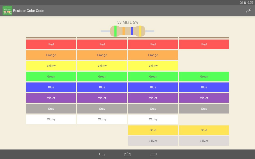 Inspirational Resistor Color Code Apk Download - Free Tools App For Android within Review Android Color Codes