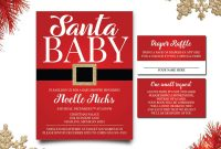 Inspirational Santa Baby Shower Invitations, Winter Baby Shower Invitations with Set Christmas Baby Shower