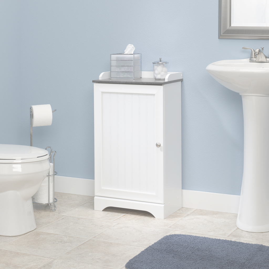 Inspirational Sauder Bath | Floor Cabinet | 414032 | Sauder pertaining to Best of Bathroom Floor Cabinet White