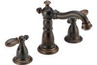 Inspirational Shop Delta Victorian Venetian Bronze 2-Handle Widespread Watersense throughout New Victorian Bathroom Faucet