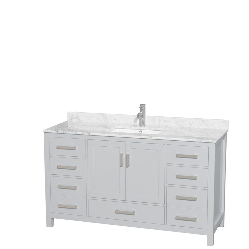 Inspirational Shop Wyndham Collection Sheffield Gray Single Sink Vanity With White in Luxury 60 Inch Single Sink Bathroom Vanity