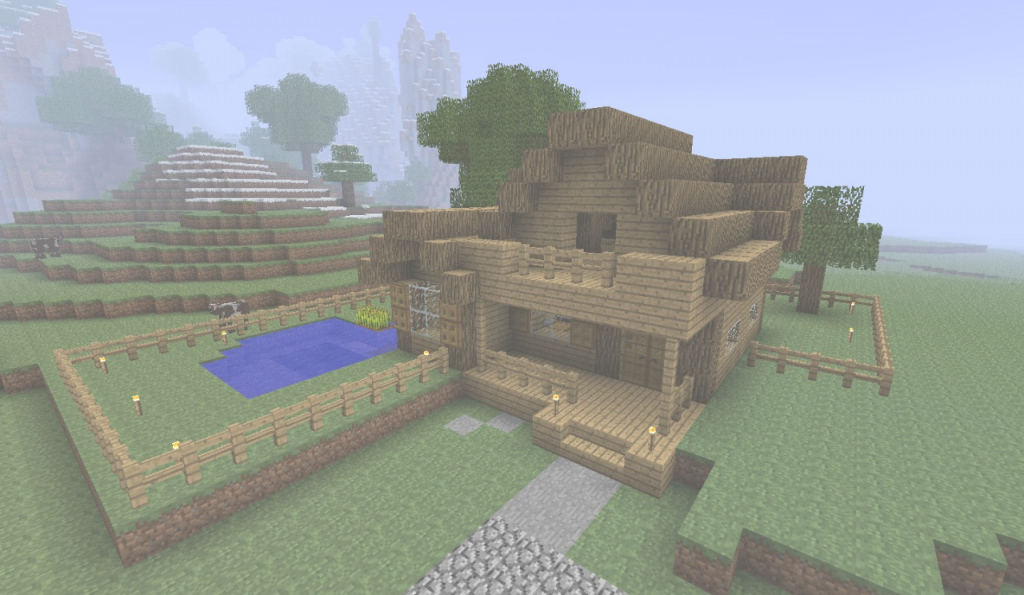 Inspirational Simple Farmhouse Minecraft Project in Minecraft Farmhouse Design