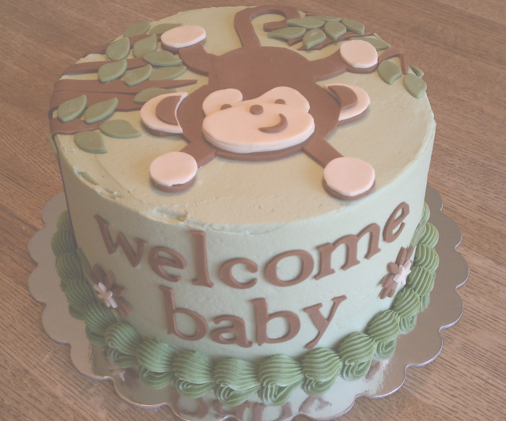 Inspirational Simply Sweet: Monkey Baby Shower Cake with Baby Shower Monkey Cakes