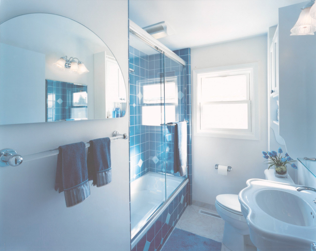 Inspirational Small Bathroom - Modern Design Ideas within Luxury Blue Bathroom Interior Design