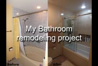 Inspirational Stepstep Diy Bathroom Remodeling Project – Youtube throughout Bathroom Remodel Diy