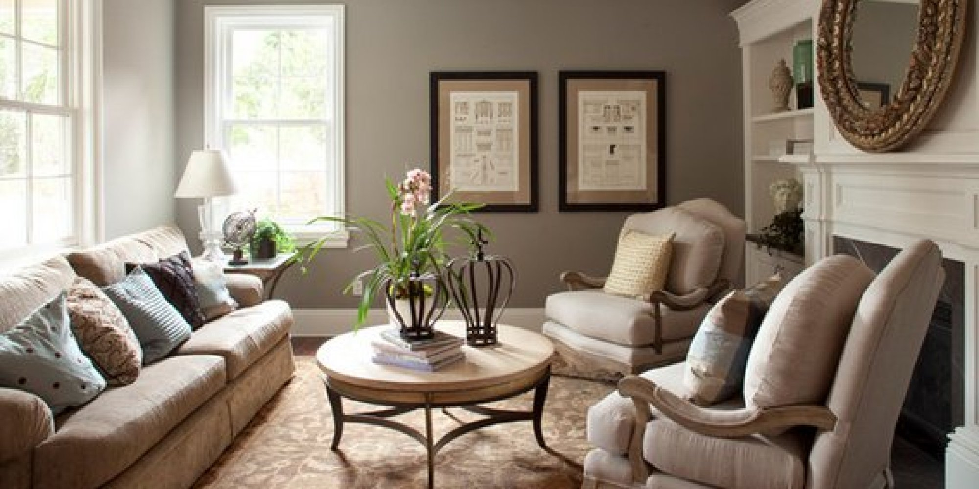 Inspirational The 6 Best Paint Colors That Work In Any Home | Huffpost within Good Living Room Colors