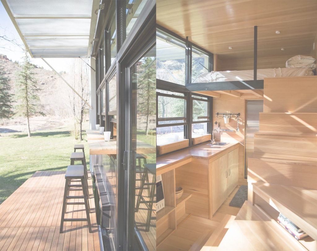 Inspirational Tiny Towable Eco-Home Helps You Reconnect With Nature | Inhabitat intended for Tiny House Split Level