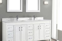 Inspirational Traditional Corniche 75 White Double Sink Vanitystudio Bathe On with Unique Bathroom Double Sink Cabinets