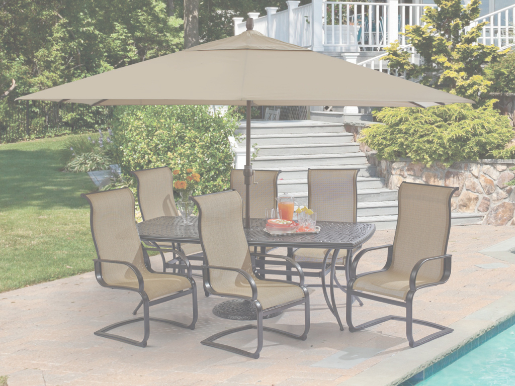 Inspirational Vera Cruz Sling 7 Pc. Aluminum Spring Dining Set - Fortunoff intended for Elegant Fortunoff Backyard Store