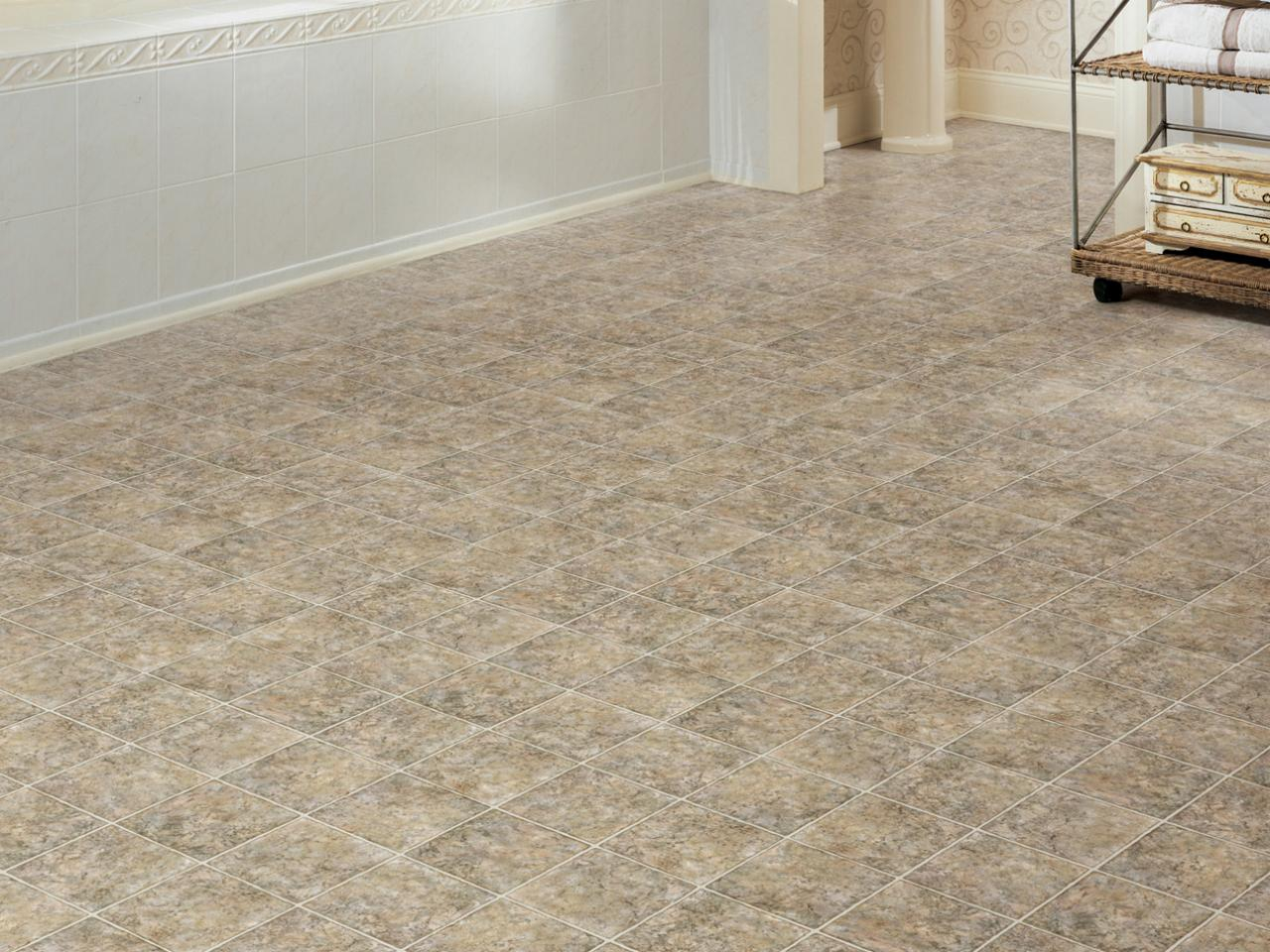 Inspirational Vinyl, Low Cost And Lovely | Hgtv throughout Easy To Install Bathroom Flooring