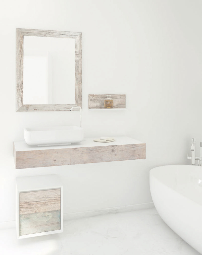 Inspirational Weathered Wood Look Bathroom Vanities Stunningly Beautiful Bathroom with Inspirational Weathered Wood Bathroom Vanity