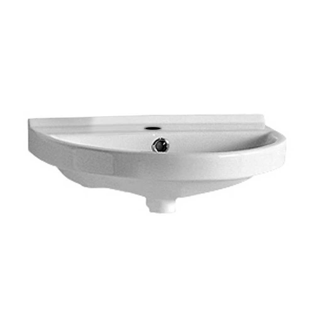 Inspirational Whitehaus Collection Isabella Collection Wall-Mounted Bathroom Sink pertaining to Elegant Small Bathroom Sinks Wall Mount