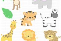 Inspirational Zoo Animals Baby Shower Invitations Baby Shower Jungle Animals throughout Awesome Safari Animals Baby Shower