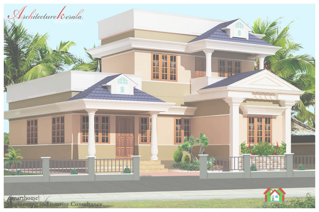 Lovely 1000 Sq Ft Kerala Style House Plan - Architecture Kerala in Kerala Style House Plans With Cost