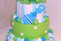Lovely 11 Green And Blue For Boy Baby Shower Cakes Photo – Green And Brown with regard to Beautiful Blue And Green Baby Shower