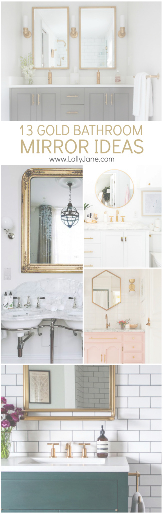Lovely 13 Gold Bathroom Mirror Ideas For Your New Bathroom Remodel in Gold Bathroom Mirror