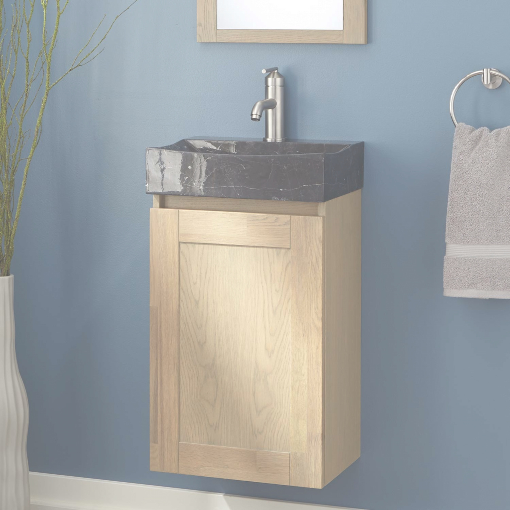 "Lovely 16"" Ramiro Wall Hung Vanity - Bathroom with regard to Petite Bathroom Vanity"