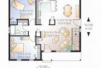Lovely 2 Bedroom House Plans With Open Floor Plan | Bakerstreetbricolage in 2 Bedroom House Plans
