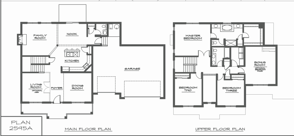Lovely 2 Storey Modern House Plans Fresh Two Story House Floor Plans Best throughout Modern House Floor Plans