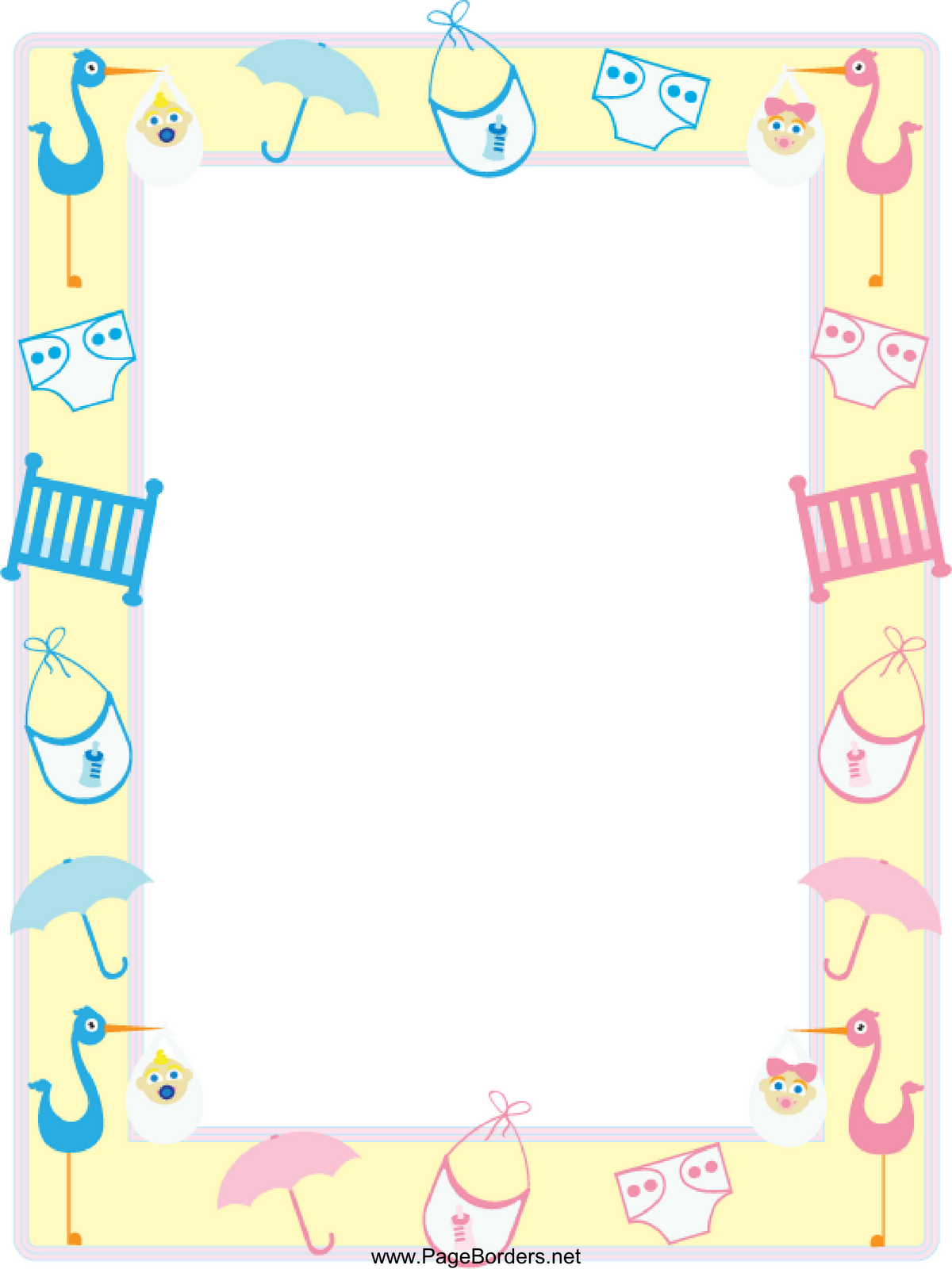 Lovely 28+ Collection Of Baby Shower Clipart Borders | High Quality, Free with Unique Baby Shower Borders