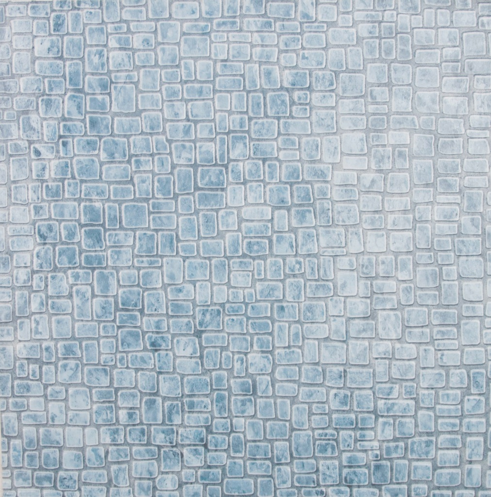 Lovely 2M- Any Size Quality Vinyl Flooring Tiles Non Slip Kitchen Bathroom in High Quality Blue Bathroom Lino