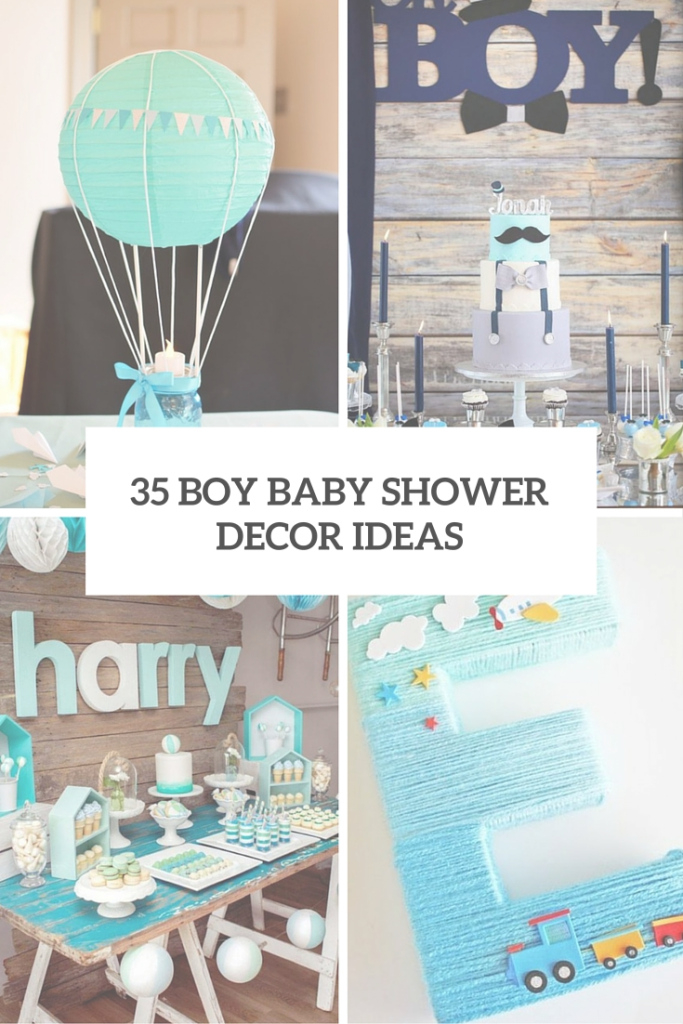 Lovely 35 Boy Baby Shower Decorations That Are Worth Trying - Digsdigs with Popular Baby Shower Themes