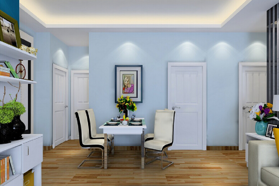Lovely 3D Dining Room Light Blue Background | Download 3D House within Review Light Blue Dining Room
