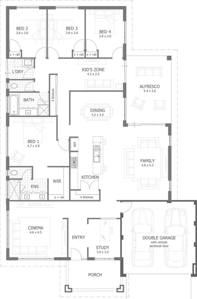 Lovely 4 Bedroom House Plans & Home Designs | Celebration Homes intended for Unique House Design Plans
