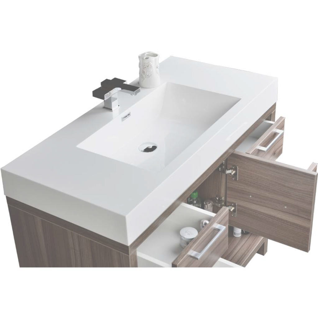 "Lovely 40"" Modern Bathroom Vanity Set With Walnut Finish Tn-L1000-Wn within Fresh 40 Bathroom Vanity"