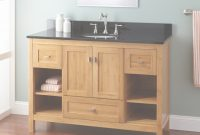 "Lovely 48"" Narrow Depth Alcott Bamboo Vanity For Undermount Sink – Bathroom in Narrow Depth Bathroom Vanities"
