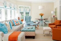 Lovely 53 Adorable Burnt Orange And Teal Living Room Ideas – Round Decor regarding Burnt Orange Living Room