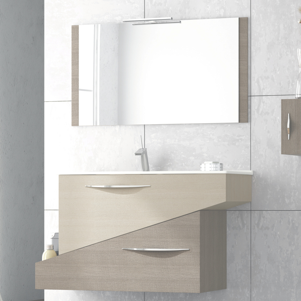 Lovely Abella 38 Inch Modern Single Sink Bathroom Vanity Set With Mirror throughout Best of Bathroom Vanity Set With Mirror