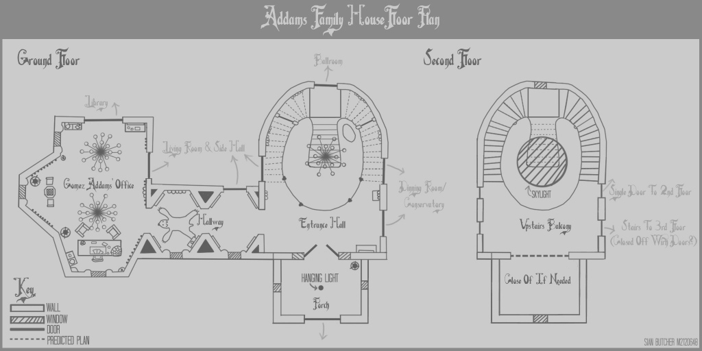Lovely Addams Family Mansion Floor Plan Elegant Addams Family House Plans regarding Lovely Addams Family Mansion Floor Plan
