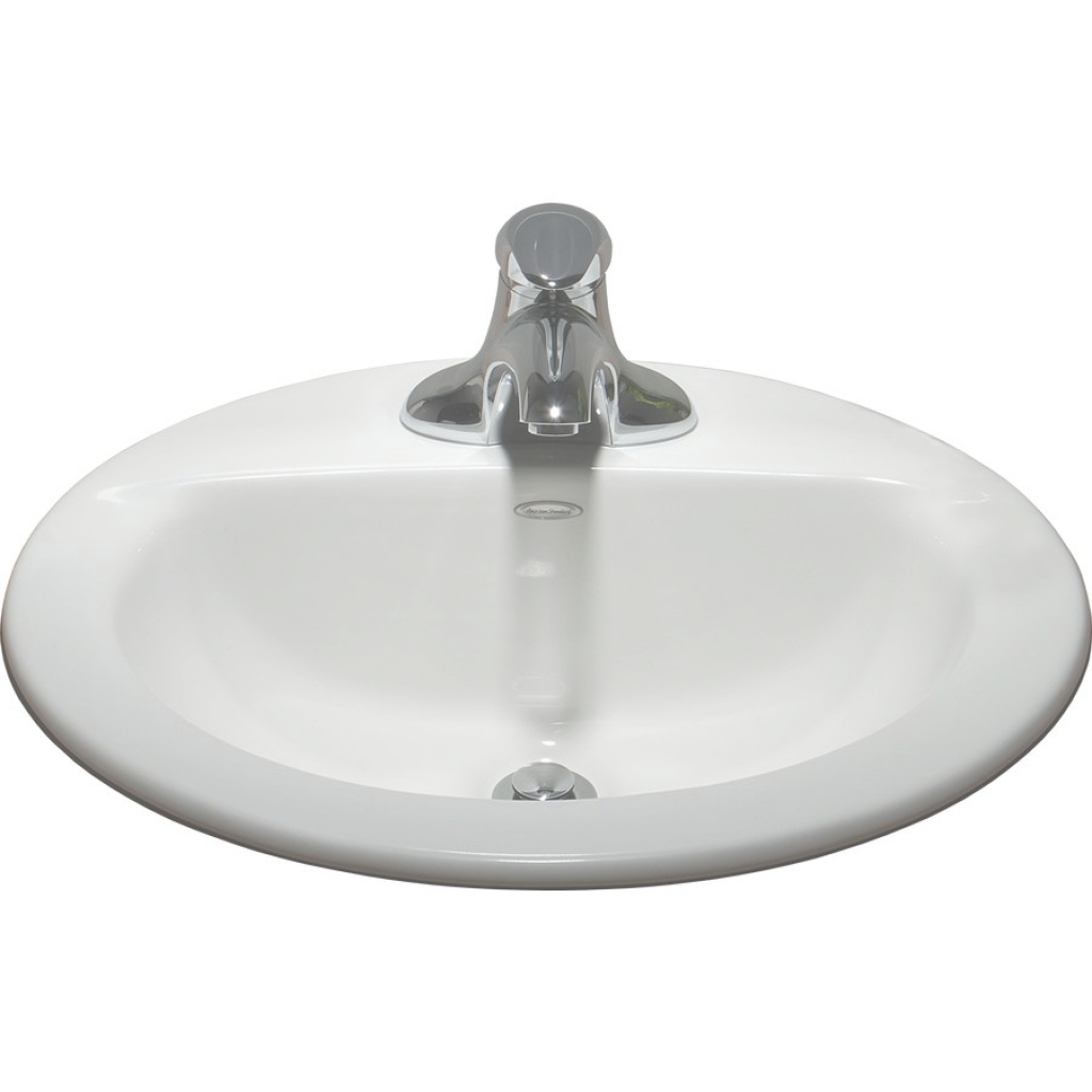 Lovely American Standard 0346403.020 White Topmount Oval Bathroom Sink with Standard Bathroom Sink