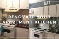 Lovely Apartment Kitchen Makeover On A Budget! | Diy – Youtube with regard to Rental Kitchen Makeover