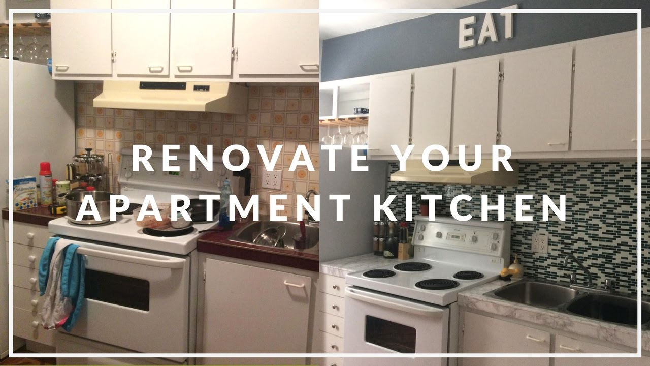 Lovely Apartment Kitchen Makeover On A Budget! | Diy - Youtube with regard to Rental Kitchen Makeover