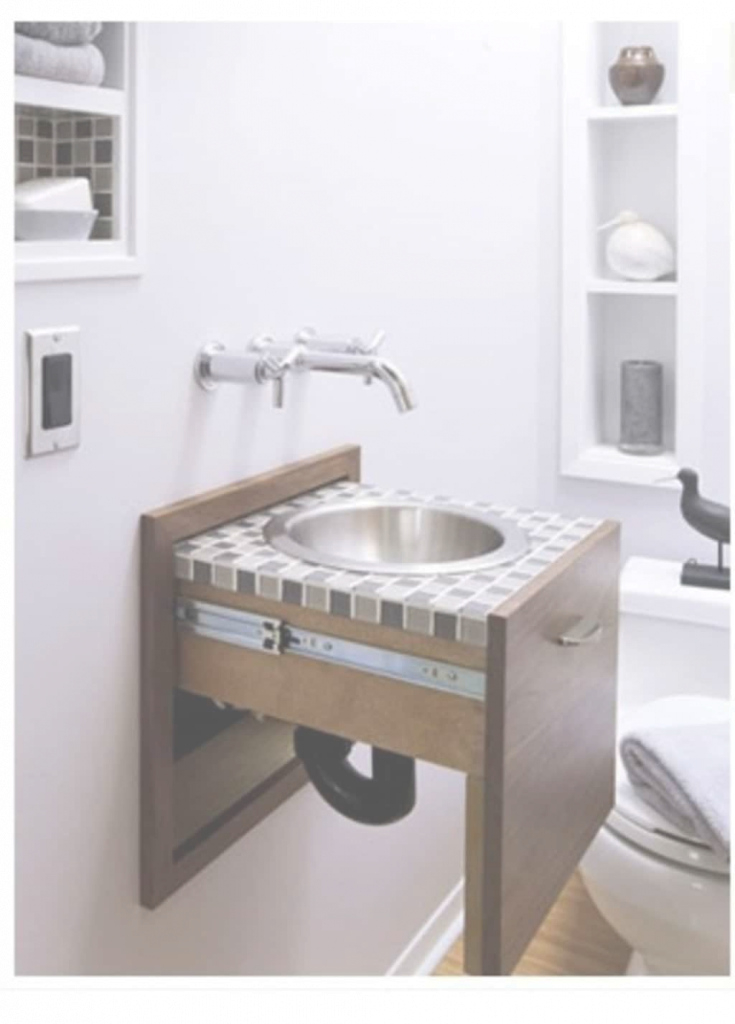 Lovely Awesome Bathroom With Pull Out Small Sink And Wall Faucet - Using pertaining to Inspirational Small Sinks Bathroom