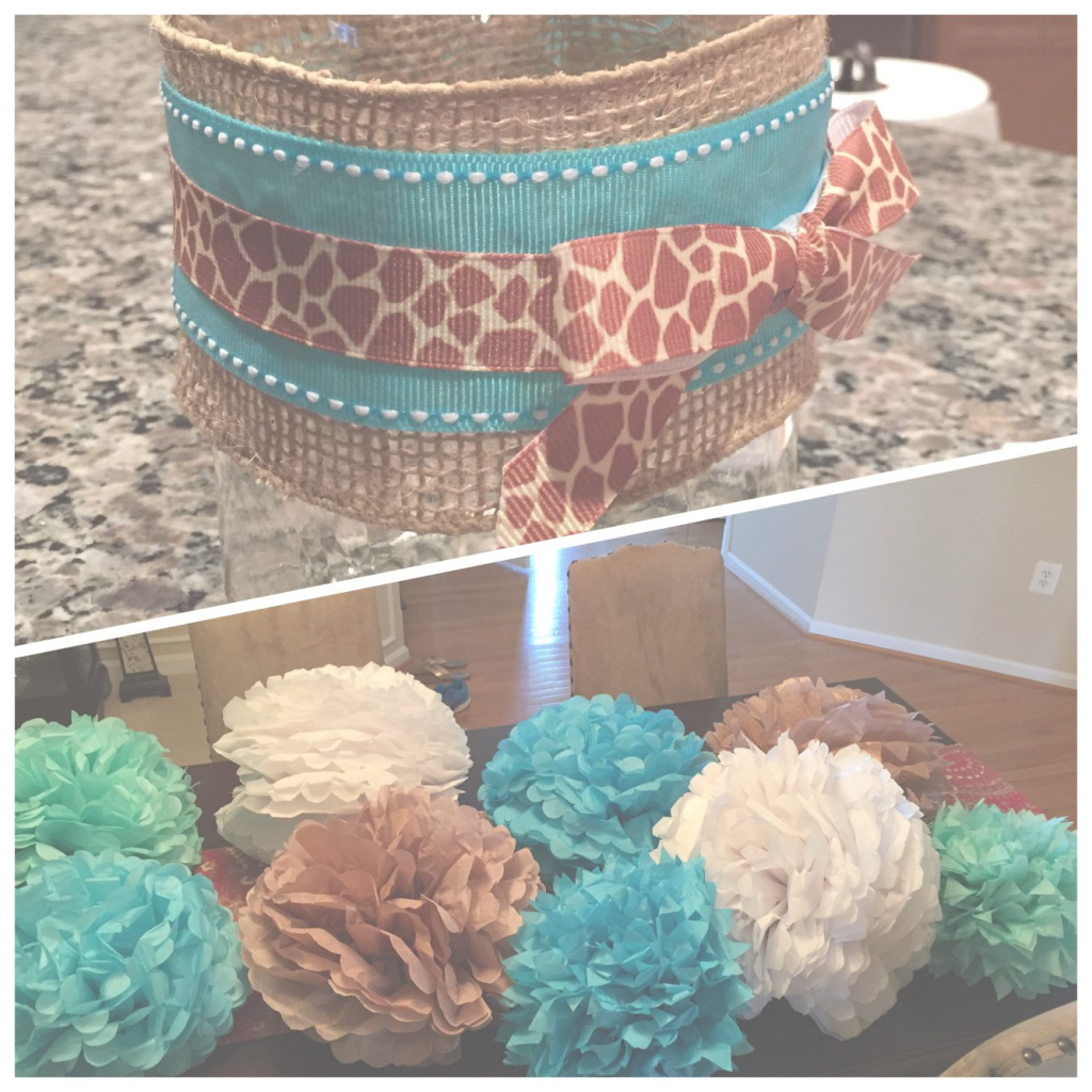 Lovely Baby Boy Baby Shower Colors; Blue, White, Brown. Mason Jar Flower regarding Boy Baby Shower Colors