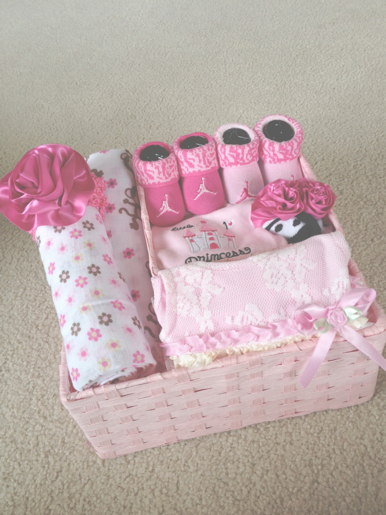 Lovely Baby Girl Gift Basket | Gift Baskets | Pinterest | Baby Girl Gift within Lovely Pinterest Baby Shower Gifts