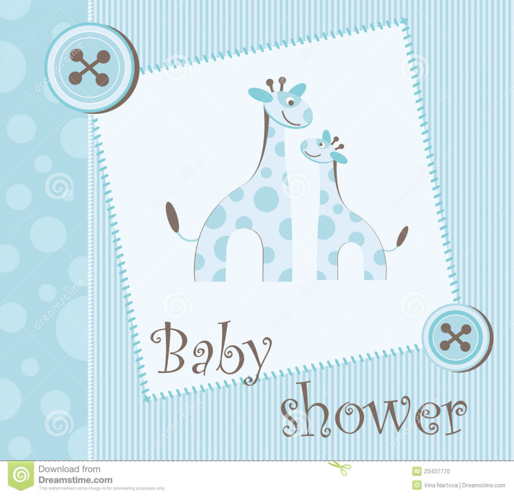 Lovely Baby Shower - Boy Stock Vector. Illustration Of Boys - 23437770 in Baby Shower Its A Boy
