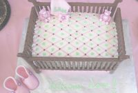Lovely Baby Shower Crib Cake | Frazi\'s Cakes with regard to Fresh How To Make A Baby Shower Cake