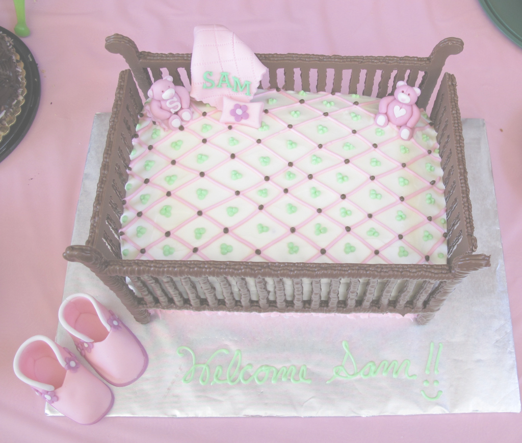 Lovely Baby Shower Crib Cake | Frazi's Cakes with regard to Fresh How To Make A Baby Shower Cake