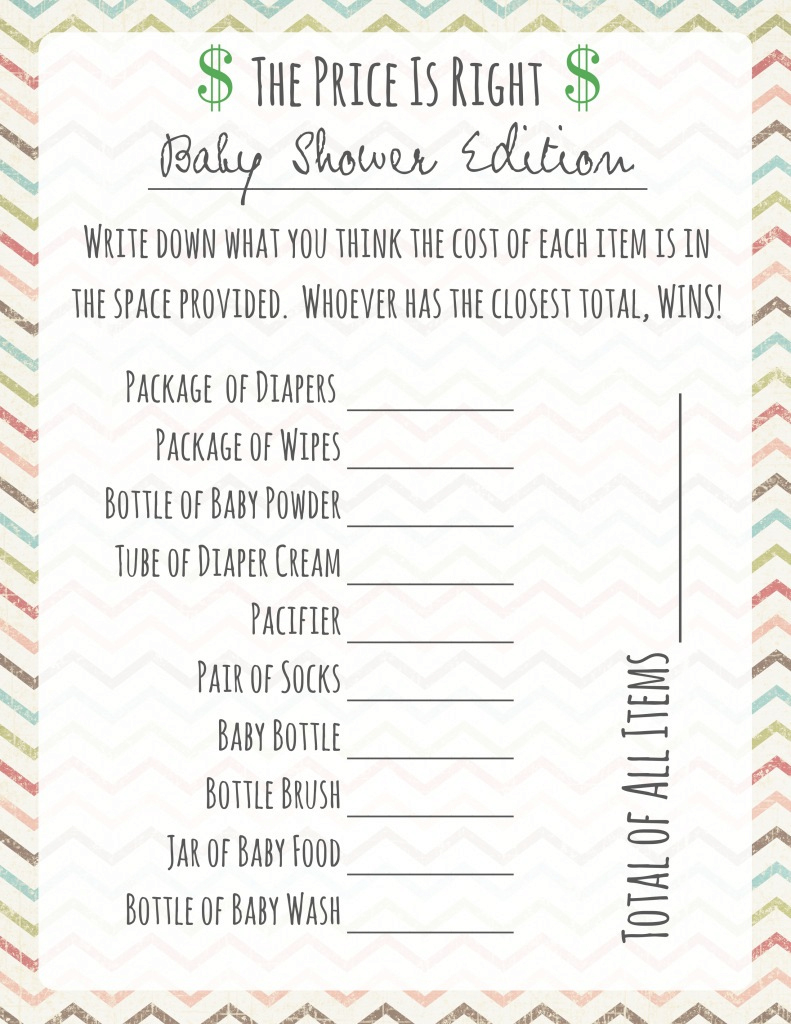 Lovely Baby Shower Games: Price Is Right - Frugal Fanatic inside Beautiful Baby Shower Price Is Right