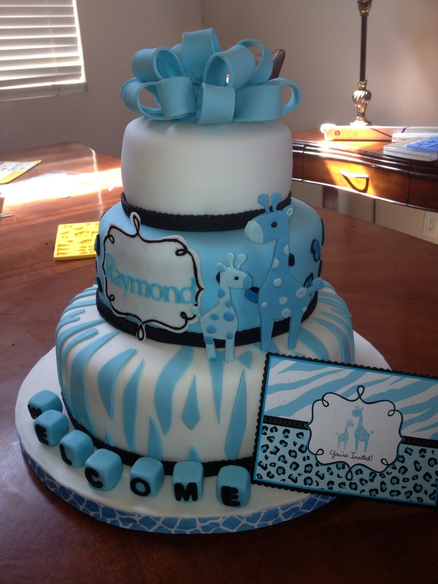 Lovely Baby Shower Giraffe Theme - Cakecentral with regard to New Giraffe Themed Baby Shower