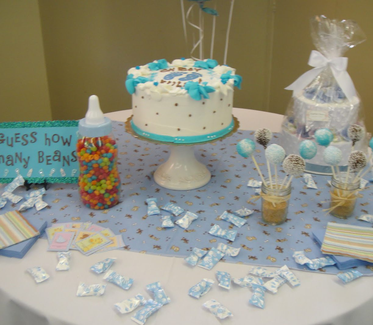 Lovely Baby Shower Ideas For Cake Table Decor Tables Marvelous Decorating pertaining to Lovely Baby Shower Table Decorating Ideas