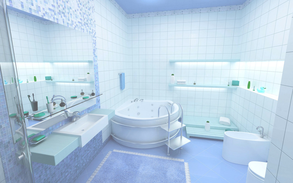 Lovely Bathroom : Blue Bathroom Tile Design Gray Paint Small Decorating within Luxury Blue Bathroom Interior Design