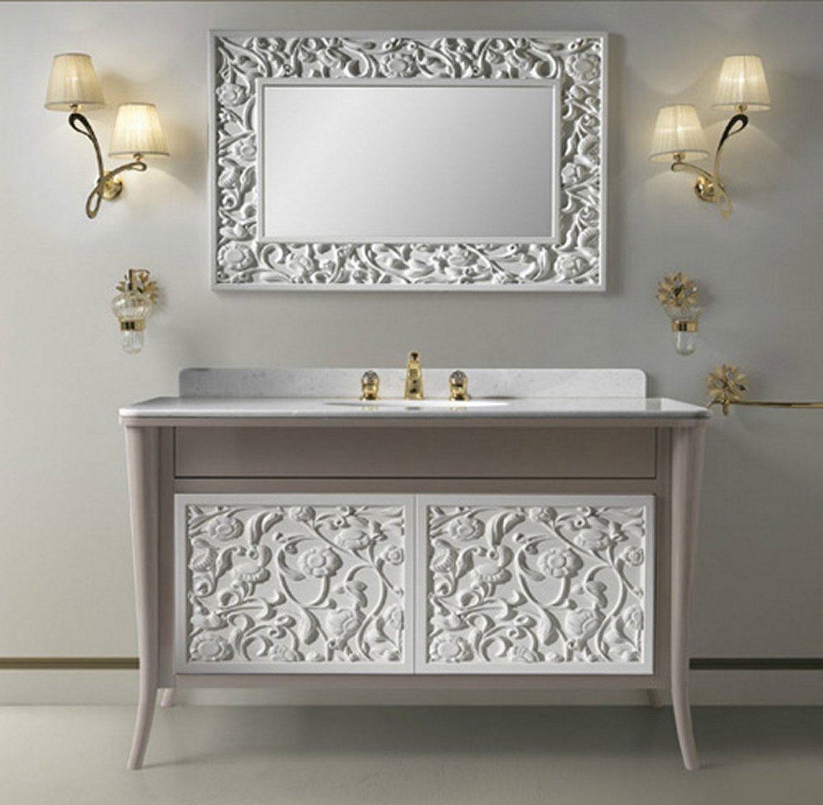 Lovely Bathroom Cabinets Vintage Style Bathroom Cabinets — The Kienandsweet with Furniture Style Bathroom Vanities