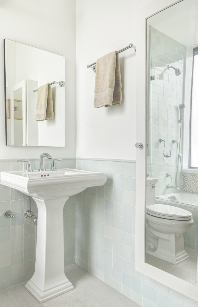 Lovely Bathroom: Corner Pedestal White Sink Under Mirror For Corner throughout High Quality Bathroom Sink Mirror